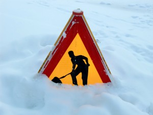 sign dangers of snow removal